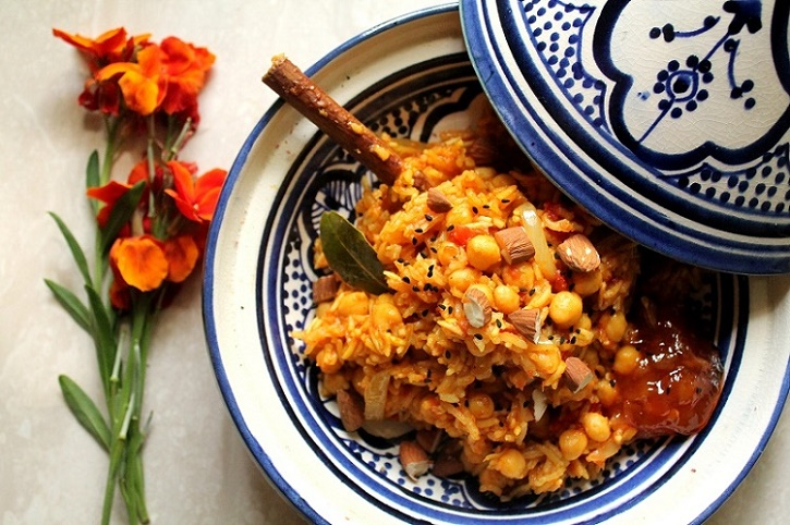 arroz pulao con garbanzos