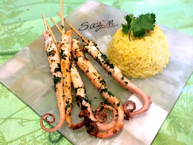 brochetas pulpo