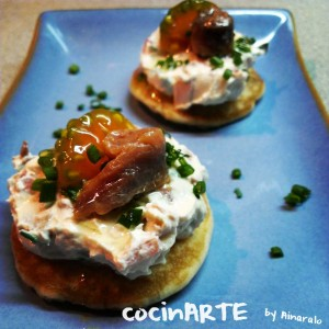 blinis de anchoas