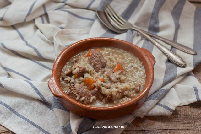 Arroz con morcillo de ternera