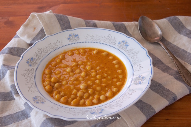 Garbanzos a lo antiguo