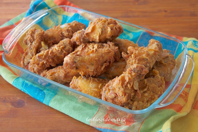 Alitas de pollo estilo Ketuncky Fried Chicken