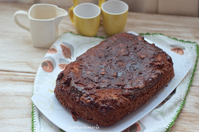 Brownie de nueces en microondas