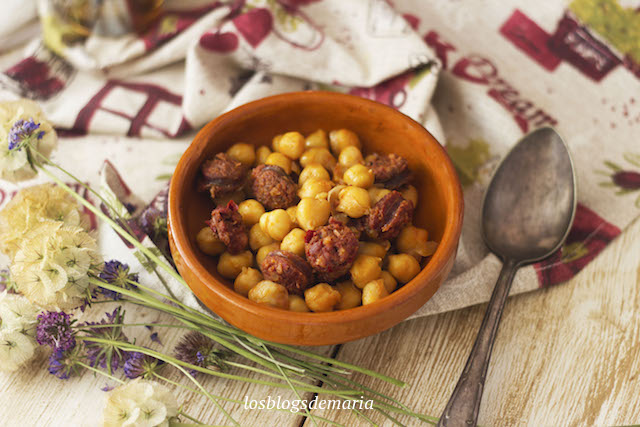 Garbanzos con chorizo en Thermomix TM6