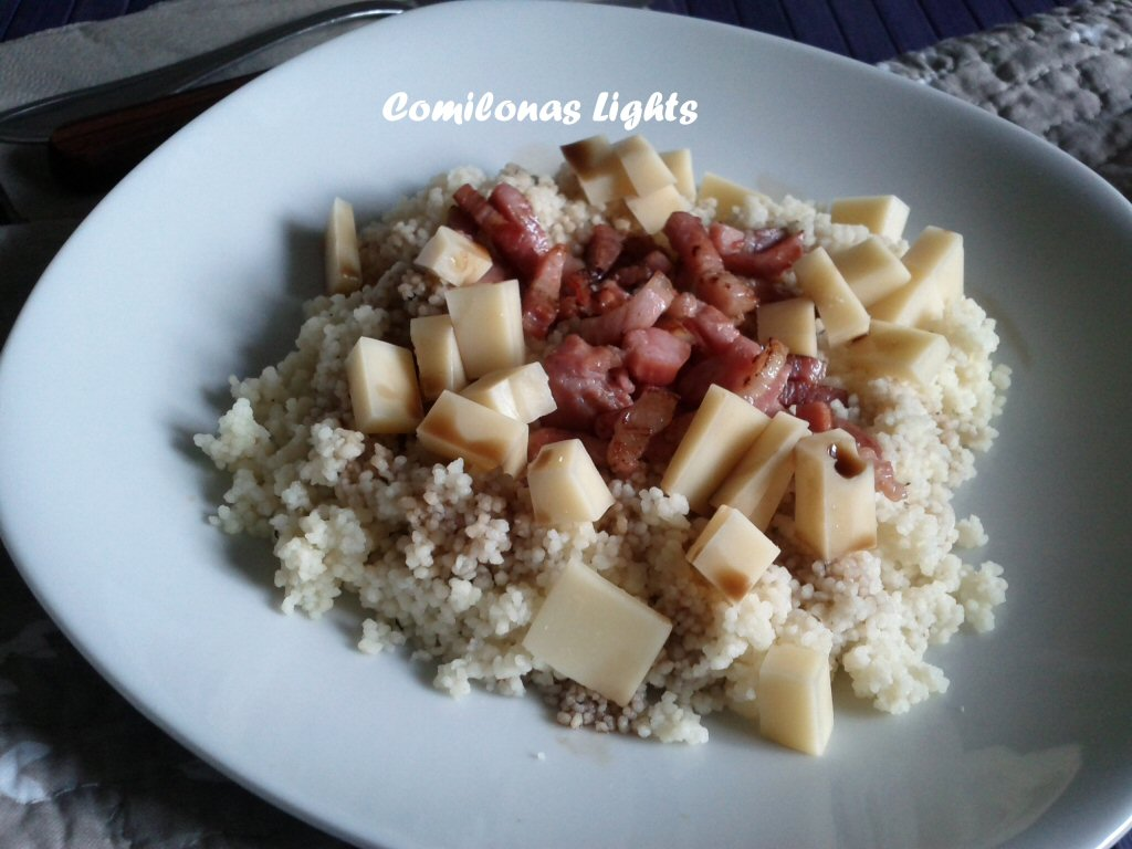 Cous cous con bacon