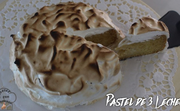 Pastel de 3 leches con bizcocho de 2 ingredientes_opt