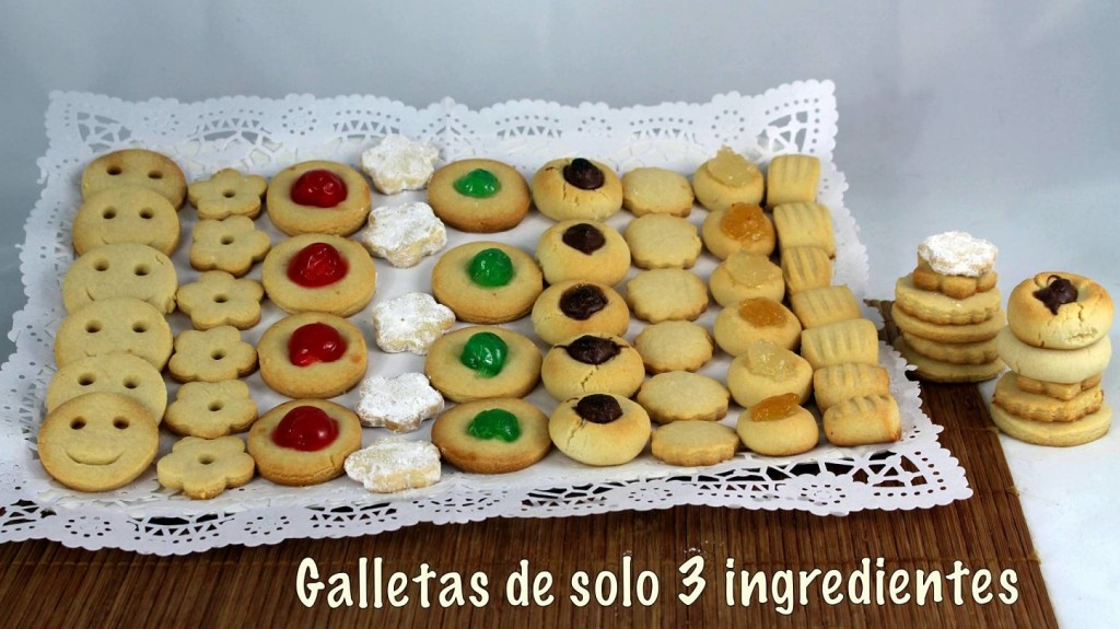 galletas con solo 3 ingredientes