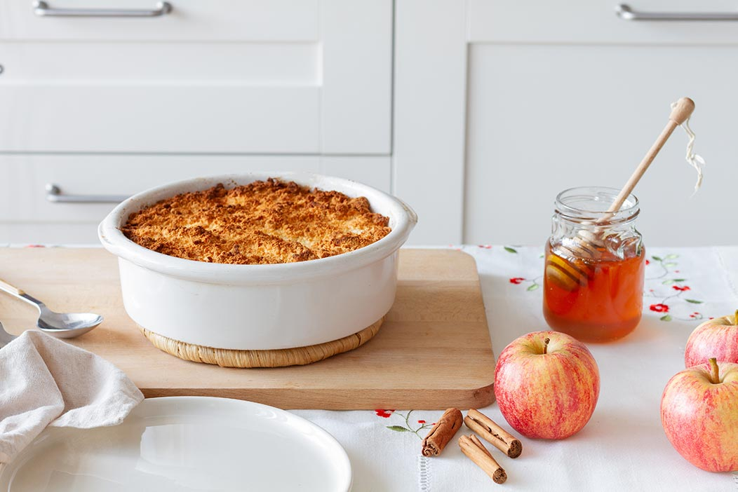 Receta de Crumble de manzana o Apple Crumble
